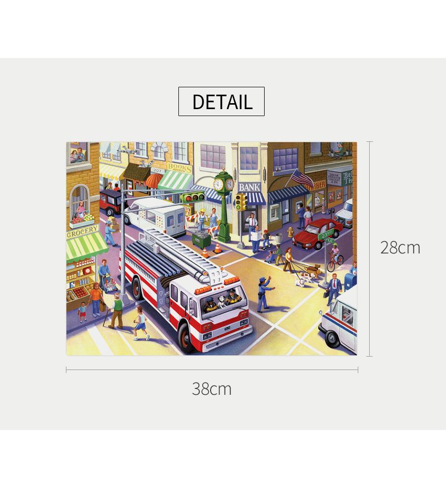이부 소방차 20피스 퍼즐 (3세 이상, 빅사이즈 피스, 완성 28X38cm) - 공간27, 8,900원, 교육완구, 퍼즐